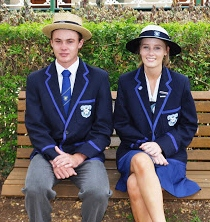 2016 College Captains - Lachlan Wearing and Amy Neville